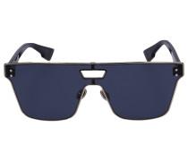 Sonnenbrille Square IZON1T Acetat braun