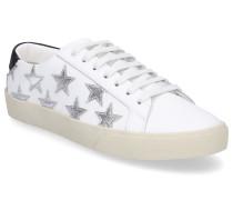 Sneaker low STAR Glattleder Sternenmuster silber