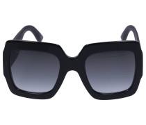Sonnenbrille Oversized 102S Acetat schwarz