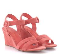 Sandalen Kalbsleder Veloursleder rosa