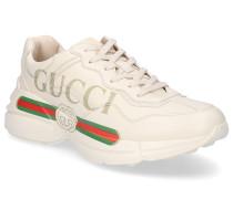 Sneaker low RHYTON Glattleder Logo creme