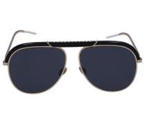 Sonnenbrille Aviator DESERT Metall schwarz gold