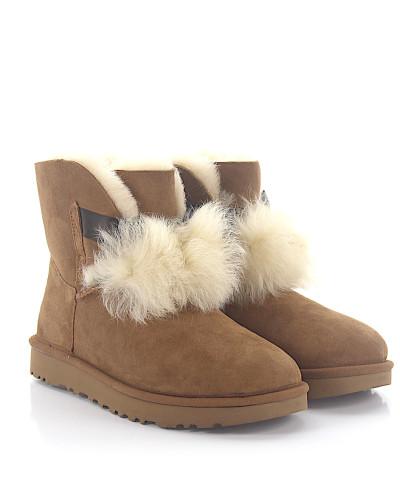 Stiefeletten Boots GITA Veloursleder Lammfell