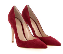 Pumps GIANVITO 105 Kalbsleder Veloursleder bordeaux