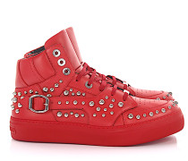 Sneaker high RUBEN Glattleder Kalbsleder Nieten