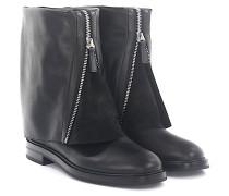 Stiefel Boots 1R706 Leder Veloursleder
