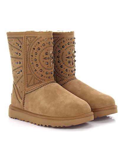 Stiefeletten Boots Fiore Deco Studs Veloursleder
