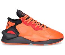 Sneaker low KAIWA Kalbsleder Logo orange