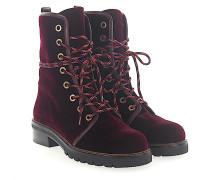 Stiefeletten Boots Metermaid Samt bordeaux