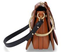 Handtasche ROY Kalbsleder Veloursleder Logo
