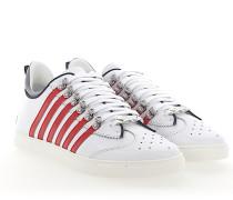 Sneaker 251 Hightech-Jersey Kalbsleder Logo weiß