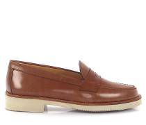 Loafer Glattleder Kalbsleder braun
