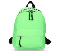 Rucksack WHEEL BACKPACK S Nylon Logo Stickerei neon