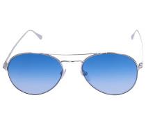Sonnenbrille Aviator 0551 Metall silber