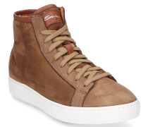 Sneaker high 60440 Veloursleder taupe