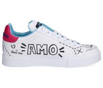 Sneaker low PORTOFINO Kalbsleder Logo Print -kombi
