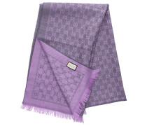 Schal 3G200 Baumwolle Logo lila grau