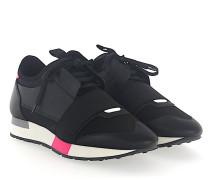 Sneaker RACE RUNNER Kalbsleder Mesh Logo schwarz
