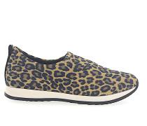 Slip Ons Kalbsleder Nylon Leo Print leopard