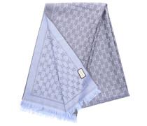 Schal 3G200 Baumwolle Logo blau grau
