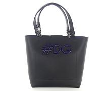 Handtasche Leder geprägt #DG-Logo lila