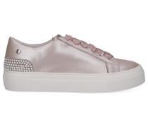 Sneaker low 925011 Kalbsleder Logo Perlen rosé