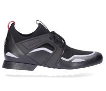 Sneaker low EMILIEN Kalbsleder Mesh Nylon Logo grau
