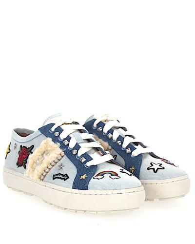 Sneaker W PATCH IT Denim Logo blau-kombi