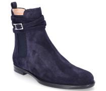 Chelsea Boots 7129 Veloursleder Lochmuster dunkel