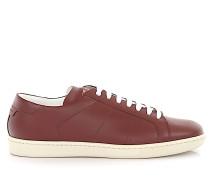 Sneaker low Kalbsleder bordeaux