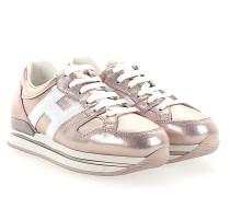 Sneaker H222 Plateau Leder metallic rosè
