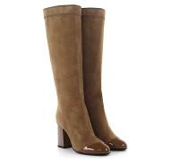 Stiefel SHFTB1 Veloursleder Lackleder beige