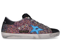 Sneaker low 590-SUPERSTAR Glitter Kalbsleder Logo
