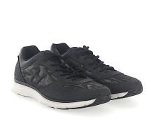 Sneaker Nubukleder Logo camouflage schwarz