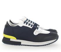 Sneaker RUNNER Stoff Leder schwarz Mesh weiss