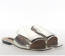 Sandalen A80380 Leder metallic finished