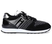 Sneaker R261 Lackleder Veloursleder Kontrastnaht Logo