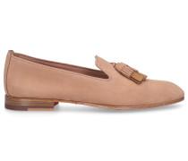 Loafer 58593 Kalbsvelours Tassel altrosa