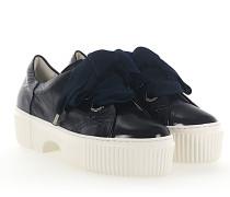 Sneaker D925095 Plateau Leder dunkel glänzend