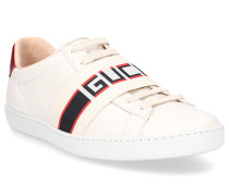 Sneaker ACE Glattleder Logo Streifen creme