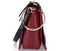 Handtasche ROY Kalbsleder Logo bordeaux