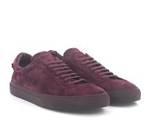 Sneaker Low Veloursleder bordeaux