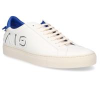 Sneaker Glattleder Logo blau creme