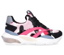 Sneaker low BOUNCE Textil Logo pink schwarz weiß