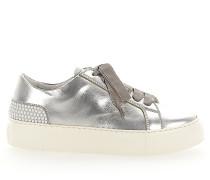 Sneaker low D925012 Glattleder Metallisch Perlen