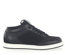 Sneaker low MIAMI Kalbsleder Textil Logo
