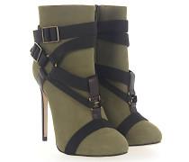 Ankle Boots J504 Nubukleder Zierschnalle