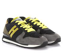 Sneaker Running R261 Veloursleder Mesh grau gelb