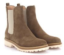 Stiefeletten Boots 7854 Veloursleder taupe