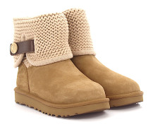 Stiefeletten Boots Shaina Veloursleder Strick
